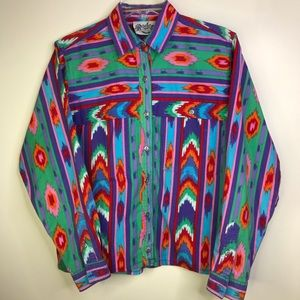 VINTAGE Rodeo Western Southwestern Button Shirt